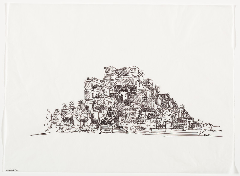 Habitat_67_100_Moshe Safdie sketch