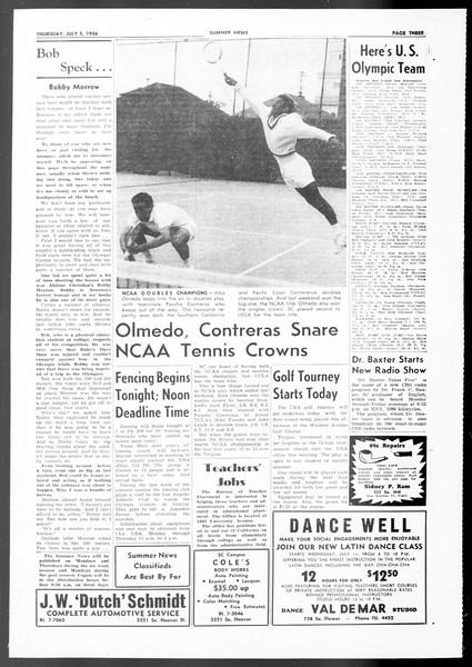 Summer News, Vol. 11, No. 4, July 05, 1956