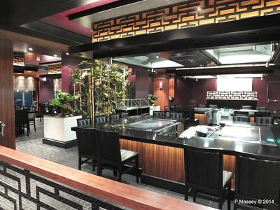 Teppanyaki, Wasabi, Ocean Blue, The Raw Bar NORWEGIAN GETAWAY Jan 2014