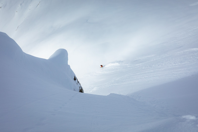 Cody Lank skiing on Rodgers Pass. Checkerspot Road Trip.