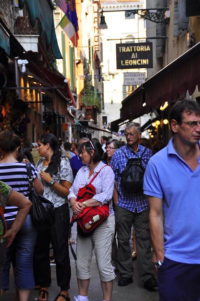 busy Venetian pedestrian streets