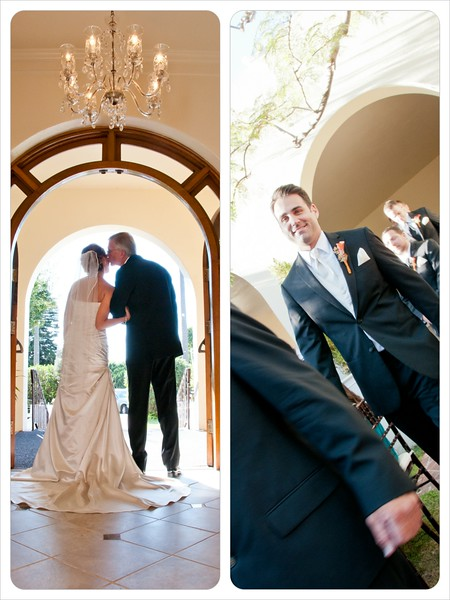 La Jolla Women's Club Wedding - bride dad groom walking.jpg