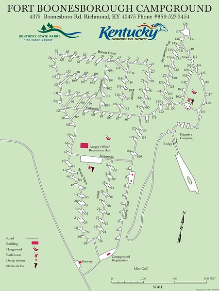 Fort Boonesborough State Park (Campground Map)