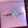3.76ctw Emerald Cut Diamond Ring, by Leon Mege GIA H VS 10