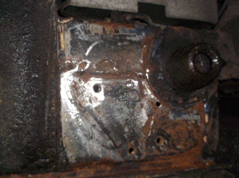 RH O/S Rear jacking point/ sill seam repair