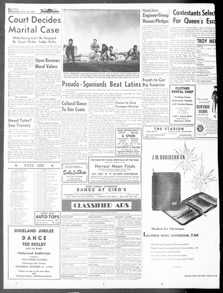 Daily Trojan, Vol. 40, No. 52, November 24, 1948