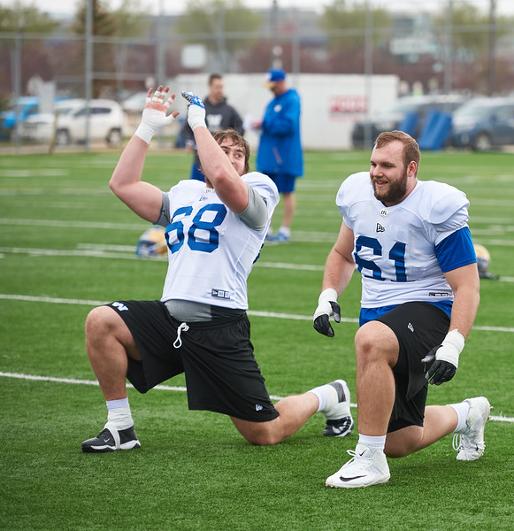 #61 Drew Desjarlais during Winnipeg Blue Bombers rookie camp Wednesday May 15, 2019.