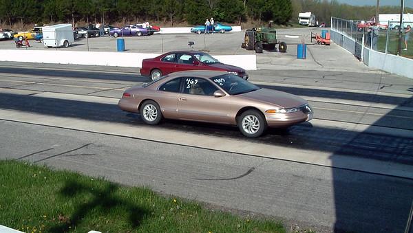 April 18, 2004:  Drag racing at Mid-America Raceway, Wentzville, MO .  .  .