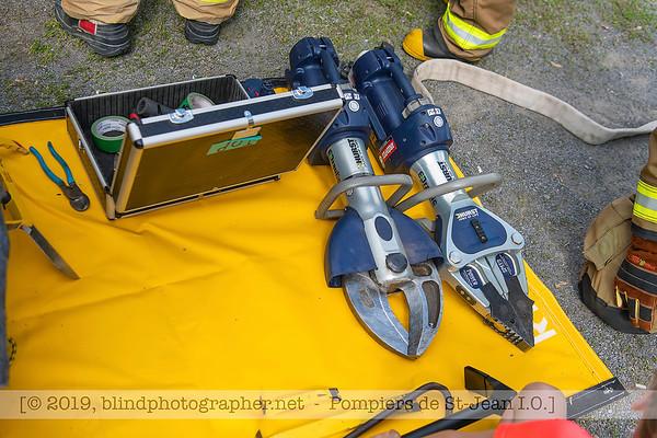 20190623-Pompiers de St-Jean-Démonstration-Petits
