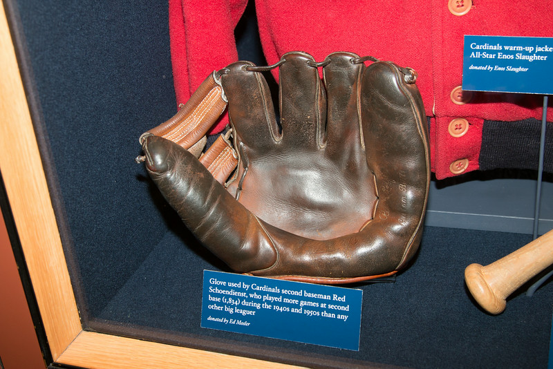 Glove used by Red Schoendienst -- A trip to the Baseball Hall of Fame, Cooperstown, NY, June 2014