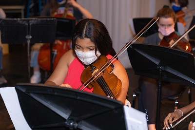 Spring Orchestra Rehearsal on Stage