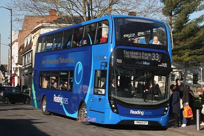 703, YN66EZP, Reading Buses, St Mary's Butts.