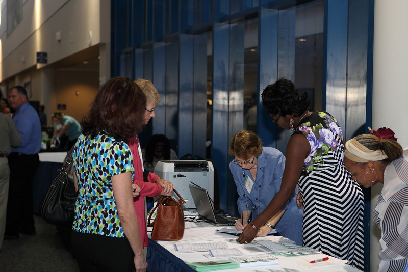 Margaret Flowe, Ruby Tucker, and Katheryn Russel worked the registration table.