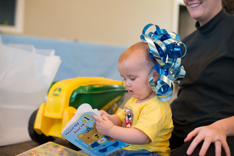 First Birthday - Opening Presents