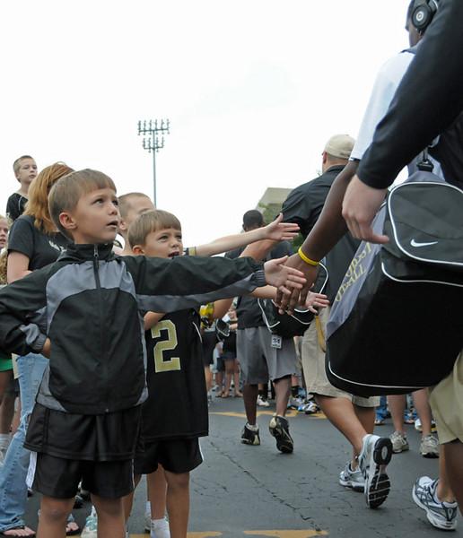 Little Deac fans Deacon Walk.jpg