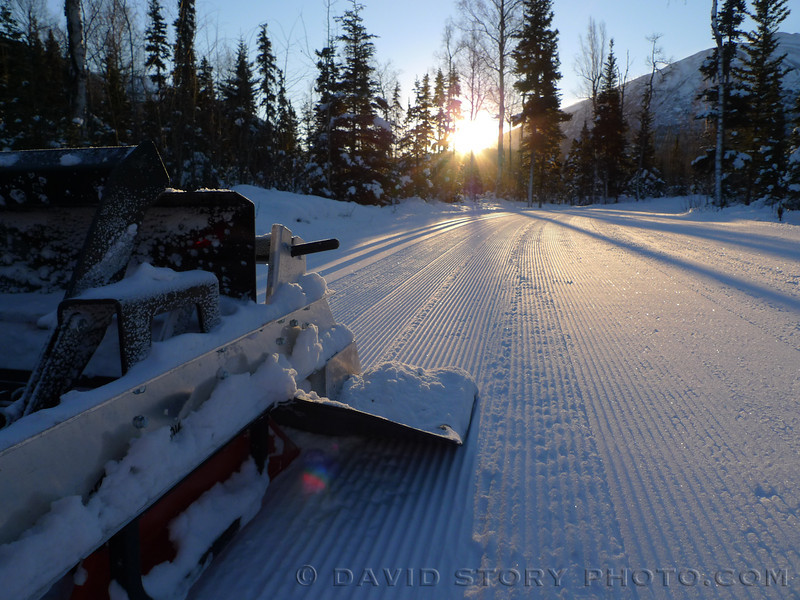The groomed trails of the Russian River Campground are the closest source of sunshine in the winter months.