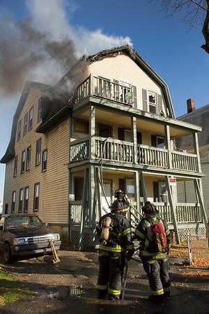 Structure Fire - 270 Myrtle Ave, Bridgeport, CT - 11/19/14