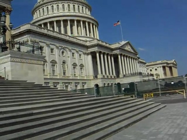 The statue at the top of the capitol dome is the Statue of Freedom.    http://www.aoc.gov/cc/art/freedom.cfm