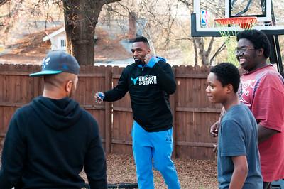 Hornets @ Charlotte Family Housing Day of Giving 12-8-15 by Jon Strayhorn
