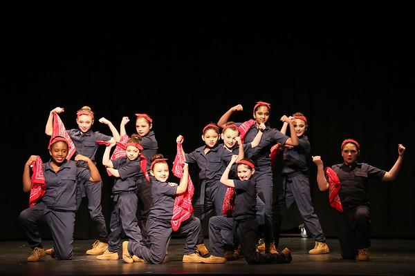 Rosie the Riverter dancers