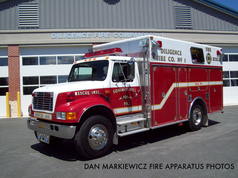 DILIGENCE FIRE CO. RESCUE 1451 1993 INTERNATIONAL/KME LIGHT RESCUE