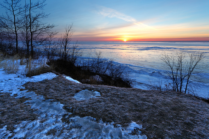 Lake Park Winter Sunrise - Port Washington, WI