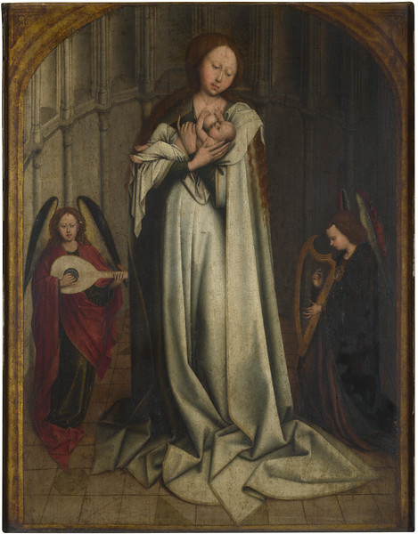 The Virgin and Child in an Apse with Two Angels