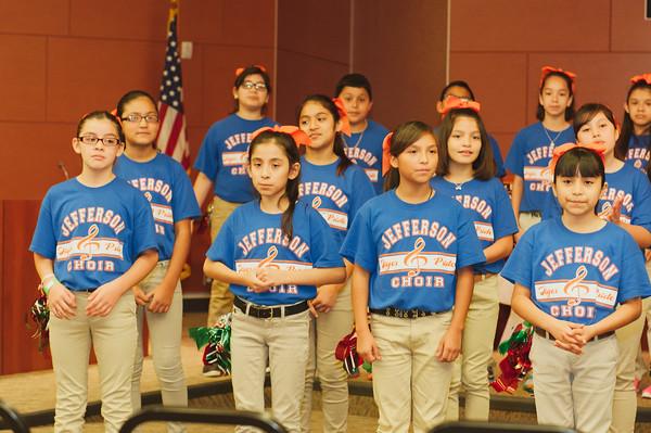 Choir Visits Admin Building