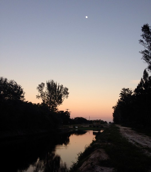 moon over canal