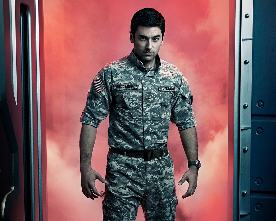 """. Mark Ghanime as Sergio Balleseros in \""""Helix.\""""  The new thriller premiers Jan. 10 with back-to-back episodes on SyFy. (Photo by: Philippe Bosse/Syfy)"""