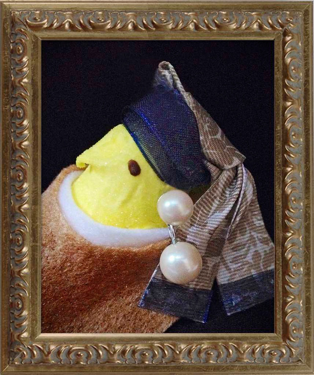 """. SECOND PLACE: \""""Peep with a Pearl Earring,\"""" by Jill Schaefer of Minnetonka"""
