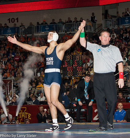 197 Champion Quentin Wright (Penn State) def. Dustin Kilgore (Kent State) 2013 NCAA Wrestling Championships