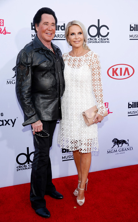 . Wayne Newton, left, and Kathleen McCrone arrive at the Billboard Music Awards at the MGM Grand Garden Arena on Sunday, May 17, 2015, in Las Vegas. (Photo by Eric Jamison/Invision/AP)