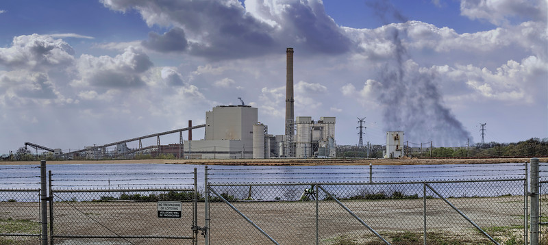 The Dynegy Midwest Generation coal-fired power plant in Havana IL. In 2010 a study commissioned by the Clean Air Task Force, a nonprofit research and advocacy organization, determined that 36 deaths, 57 heart attacks, 620 asthma attacks and 23 cases of chronic bronchitis per year are attributed to pollution from this plant. Also that lake in the foreground is a coal ash waste impoundment. In 2009 Institute of Southern Studies compiled a list of the 100 most polluting coal plants in the United States in terms of coal combustion waste stored in surface impoundments. This one ranked #76. The worst thing is that this sits above the town of Havana and if it should burst would end up flooding the town with toxic waste!