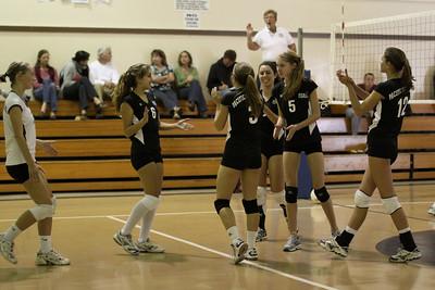 2009-10-08 Girl's Highschool Volleyball - Oakwood at PCS
