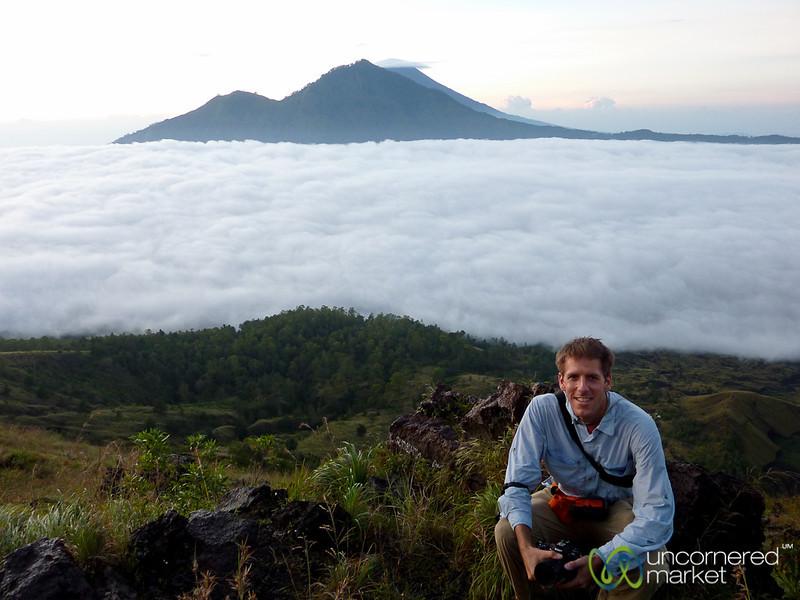 Dan Above Clouds at Mt. Batur - Bali, Indonesia