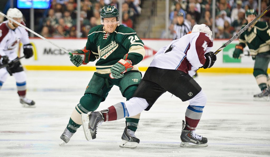 ". <p>2. MATT COOKE <p>The sixth suspension is often the most painful. (1) <p><b><a href=\'http://www.twincities.com/sports/ci_25630005/wilds-matt-cooke-apologizes-injuring-tyson-barrie\' target=""_blank\""> LINK </a></b> <p>    (Pioneer Press: Ben Garvin)"