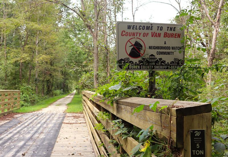 Entering Van Buren County