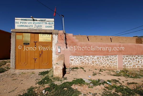 MOROCCO, Zaouit El-Bir-Dades (near Kal'at M'Gouna). Jewish Cemetery (2.2015)