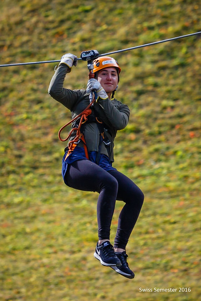 Claire also on a zip line