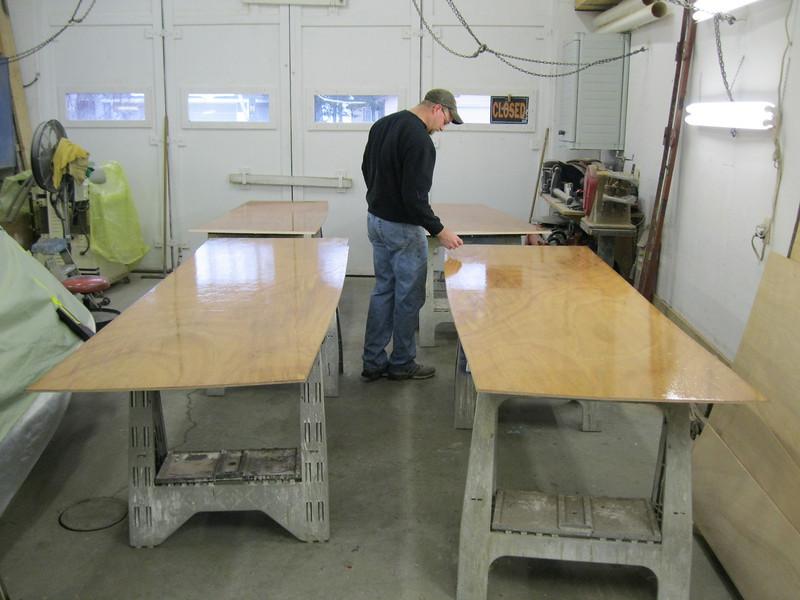 Inside of plywood skin epoxied.