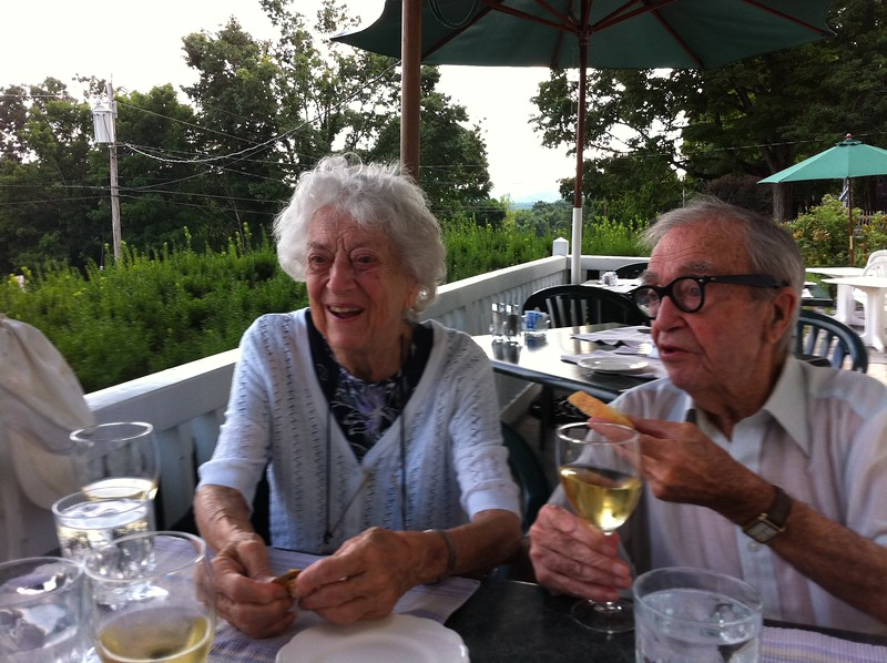 Jean and Cliff -- birthday dinner (age 95)
