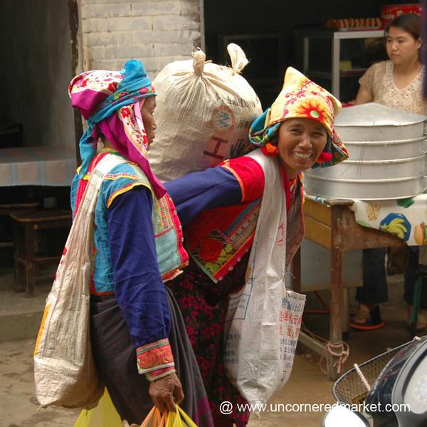 Ethnic Minority Women at Market - Xishuangbanna, China
