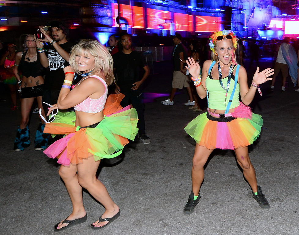 . Attendees dance at the 17th annual Electric Daisy Carnival at Las Vegas Motor Speedway on June 22, 2013 in Las Vegas, Nevada.  (Photo by Ethan Miller/Getty Images)