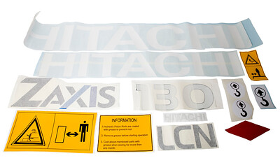 HITACHI ZAXIS ZX 130 - 1 LCN SERIES DECAL SET