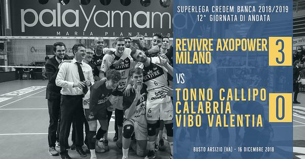 12^ And: Revivre Axopower Milano - Tonno Callipo Calabria Vibo Valentia