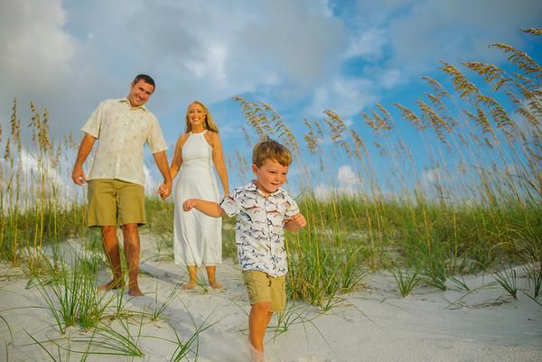 Sunset in Treasure Island Family Photos