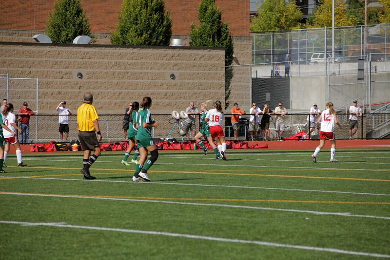 Woodinville High Girls Junior Varsity Soccer verse Ballard High Sept 24, 2011, ©Neir