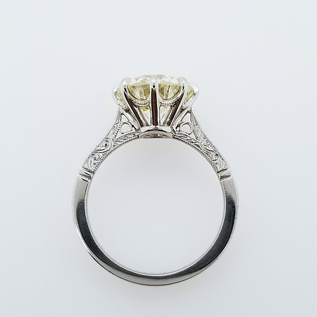 "The ""Stevie"" Solitaire - Featuring a 3.63ct Old European Cut Diamond"