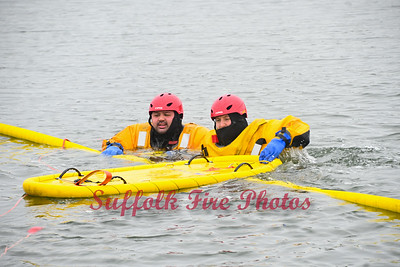 Cold Water Rescue Drill - Forge River Marina, Mastic, NY -2/28/21